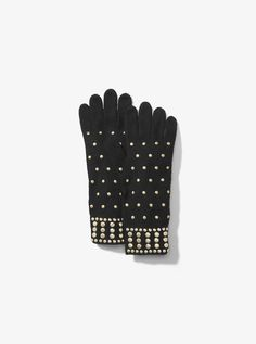 8d10ef15a087d Michael Michael Kors Studded Wool-Blend Gloves