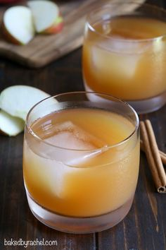 An easy and flavorful Fall cocktail perfect for all apple cider fans! Recipe from @bakedbyrachel