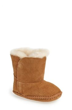 Free shipping and returns on UGG® Australia UGG® 'Caden' Boot (Baby & Walker) at Nordstrom.com. Baby-soft suede shapes a pint-size, plush-lined boot that will keep little toes toasty. The supersoft lining is made from genuine shearling or plush UGGpure™, a textile made entirely from wool but shaped to feel and wear like genuine shearling. Either version keeps feet warm and comfortable, whatever the weather.
