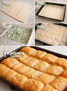 Recipe for puff pastry with puff pastry, how? - Female recipes - Site of delicious, practical and delicious food recipes Quiche, Great Recipes, Favorite Recipes, Easy Recipes, Puff Pastry Recipes, Puff Pastries, Oven Dishes, Most Delicious Recipe, Cooking Recipes