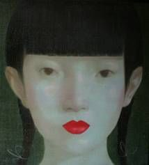 Painting - Portrait by Thai Artist Attasit Pokpong at Tusk Gallery