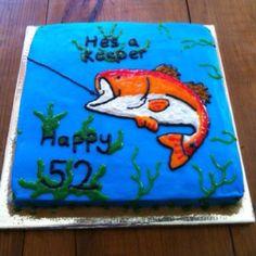 Red Fish Birthday Cake