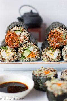 Spicy Tuna Quinoa Sushi Rolls
