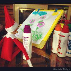 Elf on the Shelf painting