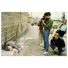 "How the famous picture of Halabja victims was taken. I can't help but think we press people do have something of vultures. But what else can you do to bring the message to the world? As famous (anti) war photographer James Nachtwey once put it: ""If you don't shoot it, who will?"""