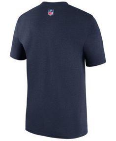 Nike Men's New England Patriots Legend Sideline Team T-Shirt - Blue 3XL