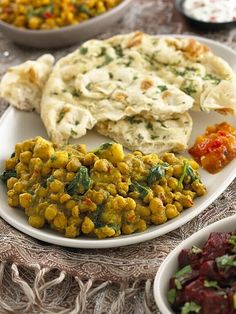 Indian Spiced Chickpeas, Potatoes and Spinach #India