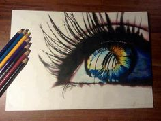 eye, drawing, and art image Amazing Drawings, Cool Drawings, Amazing Art, Hipster Drawings, Pencil Art, Pencil Drawings, Art Tumblr, Tumblr Hipster, Eye Art