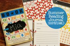 Snap Click Supply Co  - summer reading journals - hybrid project - bingo cards - betsy sammarco