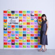 """とびきりのワクワクを伝える""""メッセージ・ウォール"""" Interactive Exhibition, Interactive Walls, Office Graphics, Eco Store, Corporate Event Design, School Kit, Design Research, Event Marketing, Creative Walls"""