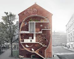 Come See Funny-Shaped Houses Squeezed Between Buildings