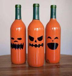 Paint empty wine bottles