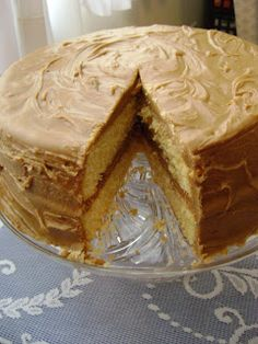 There and Back Again: Old Fashioned Caramel Cake for #SundaySupper