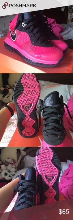 Nike Lebron 8 V/2 Grade School Pink Lebron 8 V/2 - Sz 5.5 kids - Worn maybe twice - Comes with box - Final Sale Nike Shoes Sneakers