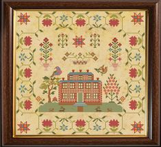 VINTAGE CHICKEN cross stitch chart also available as A4 glossy print