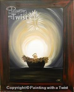 New painting ideas on canvas acrylic easy christmas 46 ideas Nativity Painting, Tole Painting, Painting & Drawing, Christmas Nativity, Christmas Art, Xmas, Christmas Ideas, Christmas Paintings On Canvas, Learn To Paint