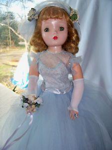 "Vintage 1950's Madame Alexander 20"" CISSY Bridesmaid Doll in Blue"