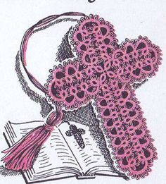 5710 Vintage Tatting PATTERN for Tatted Cross Book by BlondiesSpot, $1.99