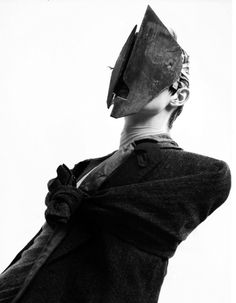 "More maskwear. Very exciting - masks for recognition without In riot scenes, we WILL want at least one Anon mask, but that's strictly ""old school"" - future is that anyone can be anon Post Apocalyptic Fashion, The Future Is Now, Masked Man, Fashion Mask, Masks Art, Portraits, Creature Design, Dark Fashion, Headgear"