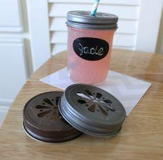 Daisy Cut Mason Jar Lids 10 PEWTER Straw by CherishedBlessings, $8.98
