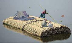 Tom Sawyer and Huckleberry Finn drift down the Mekong with their new friend Van.