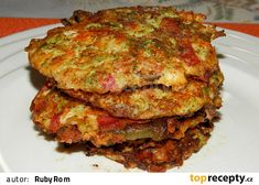 Nivové placičky se zeleninou Lasagna, Quiche, Food Porn, Food And Drink, Menu, Homemade, Breakfast, Ethnic Recipes, Fitness