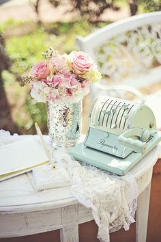 romantic outdoor wedding; #chic #blush #pastels