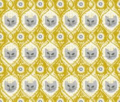 Cat fabric by ottomanbrim on Spoonflower -  LOVE!!!!!