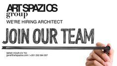 Envia o teu CV e portfólio para geral@ARTSPAZIOS.com Join Our Team, Portfolio, Company Logo, Architects, Instagram, Building Homes, Architecture