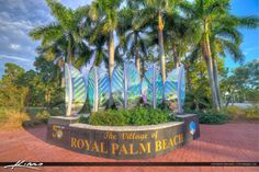 Royal Palm Beach Florida Welcome Sign