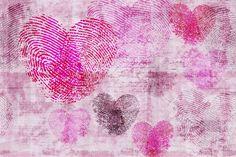 Carta da parati Glamora - Heartprint