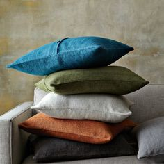 Solid Silk Hand Loomed Pillow Cover | west elm Teal Master Bedroom Accent Pillow $34