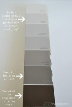 How to Choose the Perfect Greige Paint gray color mixture - Gray Things Greige Paint Colors, Neutral Paint, Wall Colors, House Colors, Paint Colours, Warm Gray Paint, Taupe Paint, Interior Paint Colors For Living Room, Paint Colors For Home
