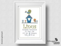 Weiteres - Geburtsanzeige personalisiert Geburt Geschenk - ein Designerstück von Schnuggellaedchen bei DaWanda