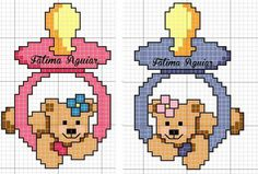 Ağız mendili Cross Stitch For Kids, Cross Stitch Cards, Cross Stitch Baby, Cross Stitch Animals, Cross Stitching, Cross Stitch Embroidery, Cross Stitch Patterns, Cross Stitch Designs, Plastic Canvas Patterns