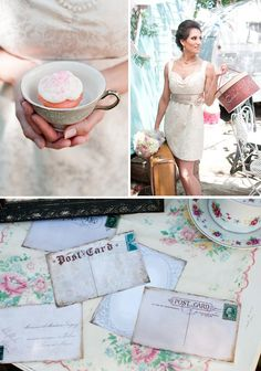Dreamy vintage tea party! Wedding Inspiration from Couture Events by Lottie