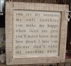 Image of You are my Sunshine Picture £45
