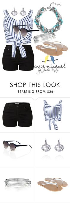 """Notebook Chic"" by jventris on Polyvore featuring LE3NO, WithChic, Chloe + Isabel, Accessorize, jewels, chloeandisabel, Sparkles and candibyjv"