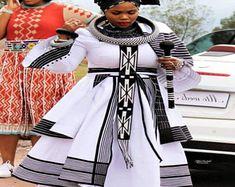 Ndixakiwe Modern Xhosa Traditional Dresses Latest Designs - Sunika Traditional African Clothes What Latest African Fashion Dresses, African Dresses For Women, African Print Fashion, African Clothes, Modern African Dresses, African Dress Designs, South African Fashion, African Fashion Designers, African Women