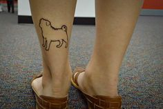 Pug Tattoo - might have to get one like it someday.