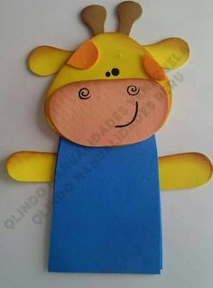 Jirafa 2 Homemade Playdough, 4 Kids, Puppets, Overlays, Crafts For Kids, Projects To Try, Clip Art, Birthday, Children Ministry