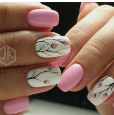 Nail art is a very popular trend these days and every woman you meet seems to have beautiful nails. It used to be that women would just go get a manicure or pedicure to get their nails trimmed and shaped with just a few coats of plain nail polish. Spring Nail Art, Nail Designs Spring, Cute Nail Designs, Spring Nails, Summer Nails, Nail Art Flowers Designs, Autumn Nails, Diy Nails, Cute Nails