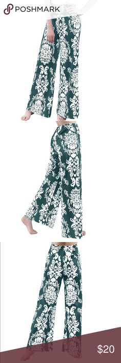 Palazzo Pants Printed Wide Leg Yoga Pants Long Womens Palazzo Pants Floral Printed Pants Wide Leg Yoga Pants Long Leg Pants Pants Wide Leg