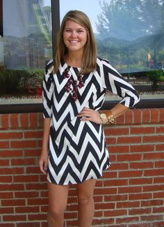 Black-White Chevron Dress I'm obsessed. Summer Outfits, Cute Outfits, Summer Clothes, Chevron Dress, Your Turn, Look At You, Classy And Fabulous, Swagg, Dress Me Up