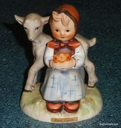 Good Friends Goebel Hummel Figurine #182 TMK3 Girl With Lamb - Cute Collectible!
