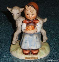 Good Friends Goebel Hummel Figurine #182 TMK3 Girl With Lamb - Cute Collectible!