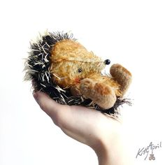 Hedgehog Miniature Forest Friend  5 inch  by KittyAprilHandmade,