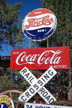 Vintage Metal Advertising Signs ~ Pepsi / Coca Cola