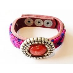 Gypsetstyle armband small paars/rood GS-041with seed on top