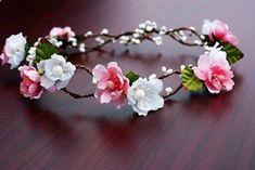 49 Ideas hair bridesmaid accessories floral headbands for 2019 Pink Floral Crowns, Floral Headbands, Baby Headbands, Bridesmaid Accessories, Wedding Hair Accessories, Baby Accessories, Bridal Flowers, Diy Flowers, Fabric Flowers